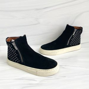 Lucky Brand Bayleah Black Studded Ankle Sneakers